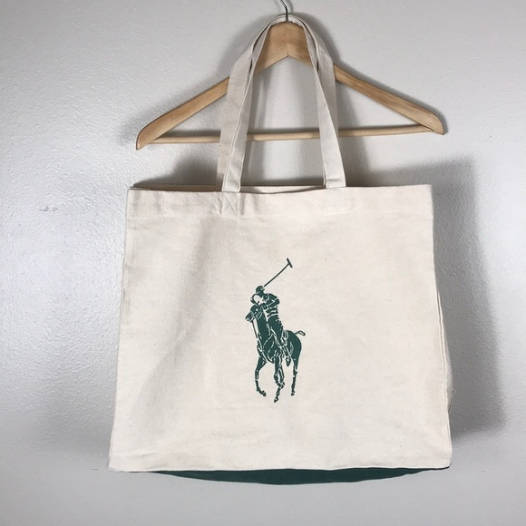 Polo by Ralph Lauren Bags   Polo Ralph Lauren Canvas Tote Bag Cream ... d50a3d149e